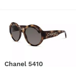 ♥️Chanel Round Tortoise Sunglasses Gold Letters